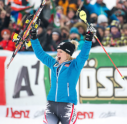 29.12.2013, Hochstein, Lienz, AUT, FIS Weltcup Ski Alpin, Lienz, Slalom, Damen, Siegerpraesentation, im Bild Gewinnerin Marlies Schild (AUT) // Winner Marlies Schild from Austria celebrates on podium after ladies slalom Lienz FIS Ski Alpine World Cup at Hochstein in Lienz, Austria on 2013/12/29, EXPA Pictures © 2013 PhotoCredit: EXPA/ Michael Gruber