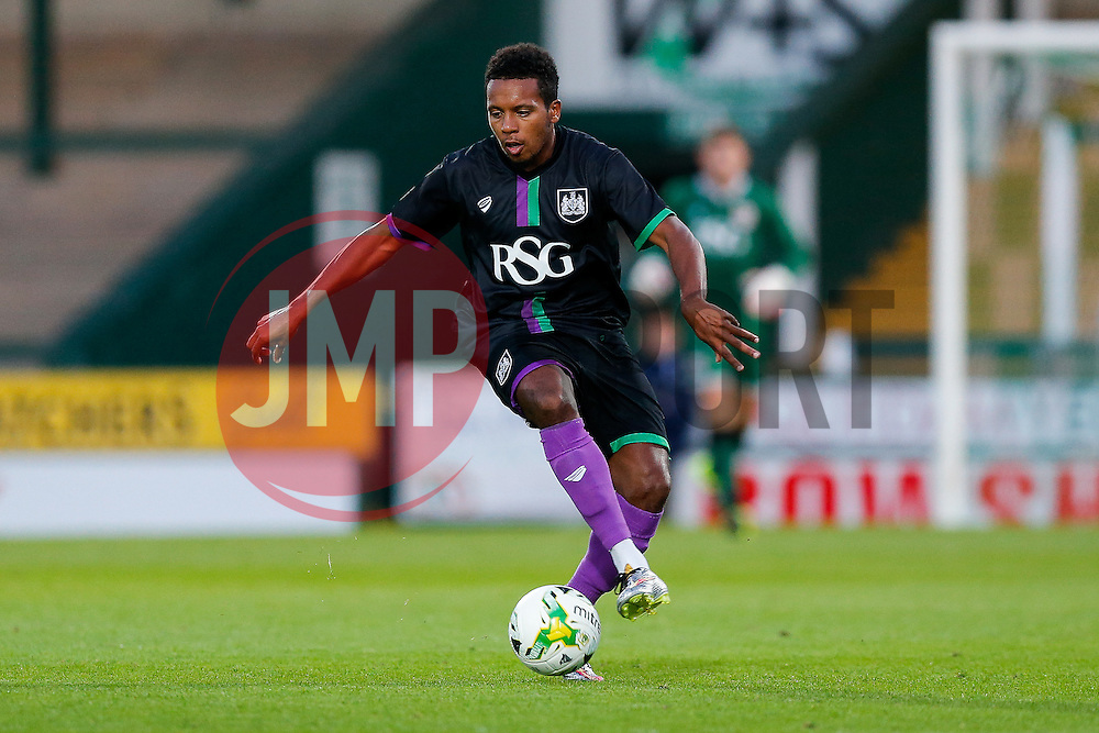 Korey Smith of Bristol City in action - Mandatory byline: Rogan Thomson/JMP - 07966 386802 - 30/07/2015 - FOOTBALL - Huish Park Stadium - Yeovil, England - Yeovil Town v Bristol City - Pre Season Friendly.