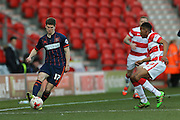 Blackpool forward Danny Philliskirk (17)  during the Sky Bet League 1 match between Doncaster Rovers and Blackpool at the Keepmoat Stadium, Doncaster, England on 28 March 2016. Photo by Simon Davies.