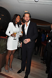 PHOEBE VELA and  JAKE PARKINSON-SMITH at a party to launch Senkai - London's first modern Japanese-inspired restaurant at 65 Regent Street, London on 26th October 2011.