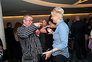 FERGUS HENDERSON; SILVENA ROWE, The French Laundry reception to celebrate the October opening of the 10-day pop-up ' French laundry restaurant in Harrods. The Penthouse, Harrods. London. 31 August 2011.<br /> <br />  , -DO NOT ARCHIVE-© Copyright Photograph by Dafydd Jones. 248 Clapham Rd. London SW9 0PZ. Tel 0207 820 0771. www.dafjones.com.