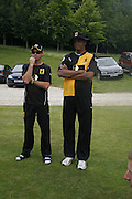 Greg  Blewett and Courtney Walsh, Guy Leymarie and Tara Getty host The De Beers Cricket Match. The Lashings Team versus the Old English team. Wormsley. ONE TIME USE ONLY - DO NOT ARCHIVE  © Copyright Photograph by Dafydd Jones 66 Stockwell Park Rd. London SW9 0DA Tel 020 7733 0108 www.dafjones.com