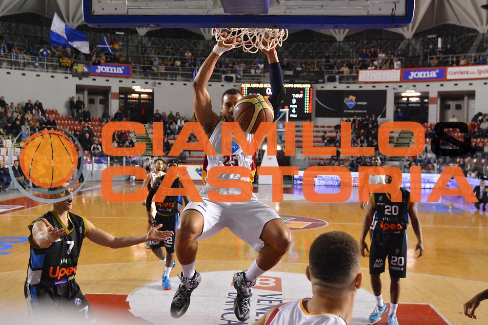 DESCRIZIONE : Roma Lega A 2014-15 Acea Virtus Roma Orlandina Basket<br /> GIOCATORE : jordan morgan<br /> CATEGORIA : schiacciata <br /> SQUADRA : Acea Virtus Roma Orlandina Basket<br /> EVENTO : Campionato Lega Serie A 2014-2015<br /> GARA : Acea Virtus Roma Orlandina Basket<br /> DATA : 08.02.2015<br /> SPORT : Pallacanestro <br /> AUTORE : Agenzia Ciamillo-Castoria/M.Greco<br /> Galleria : Lega Basket A 2014-2015 <br /> Fotonotizia : Roma Lega A 2014-15 Acea Virtus Roma Orlandina Basket