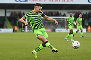 Forest Green Rovers Liam Shephard(2) during the The FA Cup match between Forest Green Rovers and Carlisle United at the New Lawn, Forest Green, United Kingdom on 30 November 2019.