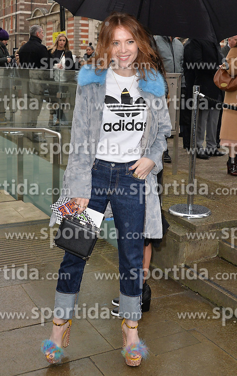 Angela Scanlon arriving at the Topshop Unique catwalk show A/W 2015, at The Topshop Show Space, Tate Britain in London, England during London Fashion Week. 22nd February 2015. Photo by James Warren/Photoshot. EXPA Pictures &copy; 2015, PhotoCredit: EXPA/ Photoshot/ James Warren<br /> <br /> *****ATTENTION - for AUT, SLO, CRO, SRB, BIH, MAZ only*****