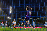 MELBOURNE, VIC - NOVEMBER 09: Melbourne City goalkeeper Eugene Galekovic (18) saves the ball at the Hyundai A-League Round 4 soccer match between Melbourne City FC and Wellington Phoenix on November 09, 2018 at AAMI Park in Melbourne, Australia. (Photo by Speed Media/Icon Sportswire)