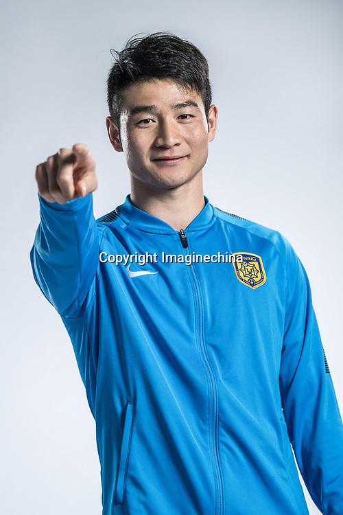 **EXCLUSIVE**Portrait of Chinese soccer player Ji Xiang of Jiangsu Suning F.C. for the 2018 Chinese Football Association Super League, in Nanjing city, east China's Jiangsu province, 23 February 2018.