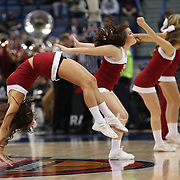 The Temple cheer leaders in action during the Temple Vs SMU Semi Final game at the American Athletic Conference Men's College Basketball Championships 2015 at the XL Center, Hartford, Connecticut, USA. 14th March 2015. Photo Tim Clayton