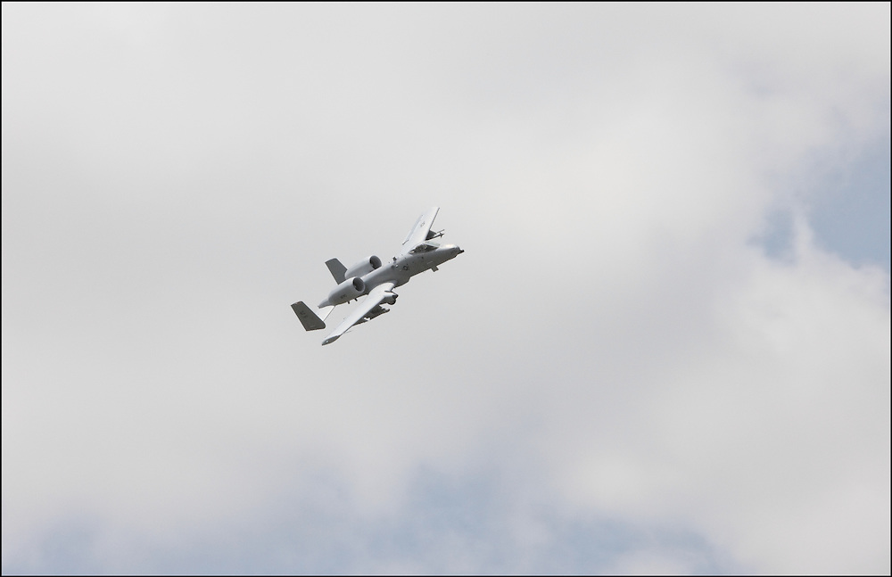 The National Guard in Salina, Kansas had the A-10 Warthog at Smokey Hill Open House that was hosted to include the residents of Salina, Kansas in part of the training process that goes on west of town at the training site.