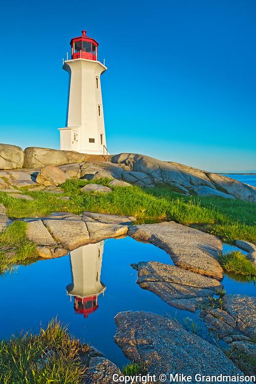 Peggy's COve lighthouse reflection , Peggy's Cove, Nova Scotia, Canada