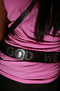 Girls 'God' belt, T Bar, London.