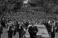 Joe Green funeral procession.17 June 1984..&copy; Martin Jenkinson<br />