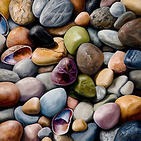 The glacier-formed shores of Lake Michigan hold an abundance of colorful pebbles. Nature's candy jar! <br />