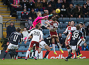 Dundee keeper Scott Bain punches clear - Dundee v Rangers in the Ladbrokes Scottish Premiership at Dens Park, Dundee.Photo: David Young<br /> <br />  - © David Young - www.davidyoungphoto.co.uk - email: davidyoungphoto@gmail.com
