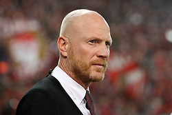 16.09.2015, Karaiskakis Stadium, Piräus, GRE, UEFA CL, Olympiakos Piräus vs FC Bayern München, Gruppe F, im Bild Vorstand Matthias Sammer (FC Bayern Muenchen) // during UEFA Champions League group F match between Olympiacos F.C. and FC Bayern Munich at the Karaiskakis Stadium in Piräus, Greece on 2015/09/16. EXPA Pictures © 2015, PhotoCredit: EXPA/ Eibner-Pressefoto/ Kolbert<br /> <br /> *****ATTENTION - OUT of GER*****