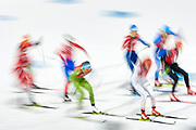 South Korea, PyeongChang - 2018 February 17: Start of  Cross-Country Skiing - Ladies' 4 x 5km Relay during The 2018 PyeongChang Olympic Winter Games at Alpensia Cross-Country Skiing Centre on February 17, 2018 in PyeongChang, South Korea.<br /> <br /> Mandatory credit:<br /> Photo by &copy; Adam Nurkiewicz<br /> <br /> Adam Nurkiewicz declares that he has no rights to the image of people at the photographs of his authorship.<br /> <br /> Picture also available in RAW (NEF) or TIFF format on special request.<br /> <br /> Any editorial, commercial or promotional use requires written permission from the author of image.