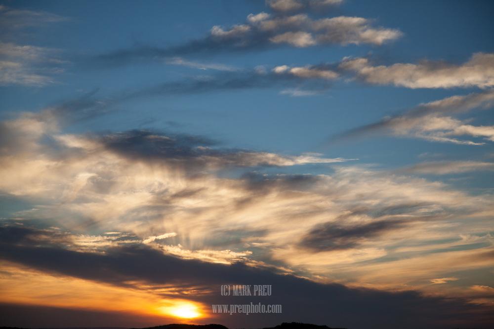 A November sunset sky over the Provincelands.