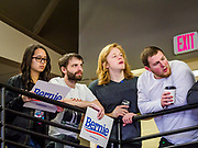 07 APRIL 2019 - OSKALOOSA, IOWA:  Supporters of Sen. Bernie Sanders try to catch a glimpse of Sen Sanders during a campaign event Sunday. Sanders held a town hall campaign event on the campus of  William Penn University in Oskaloosa. Sanders is one of dozens of Democratics who hope to be the party's nominee for the 2020 US Presidential election. Iowa holds the first in the country selection contest with state caucuses on Feb. 3, 2020.    PHOTO BY JACK KURTZ