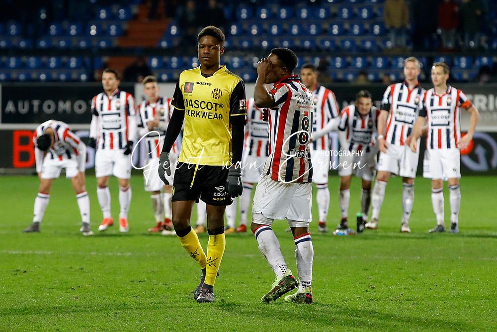 (L-R) *Tsiy William Ndenge* of Roda JC, *Bartholomew Ogbeche* of Willem II