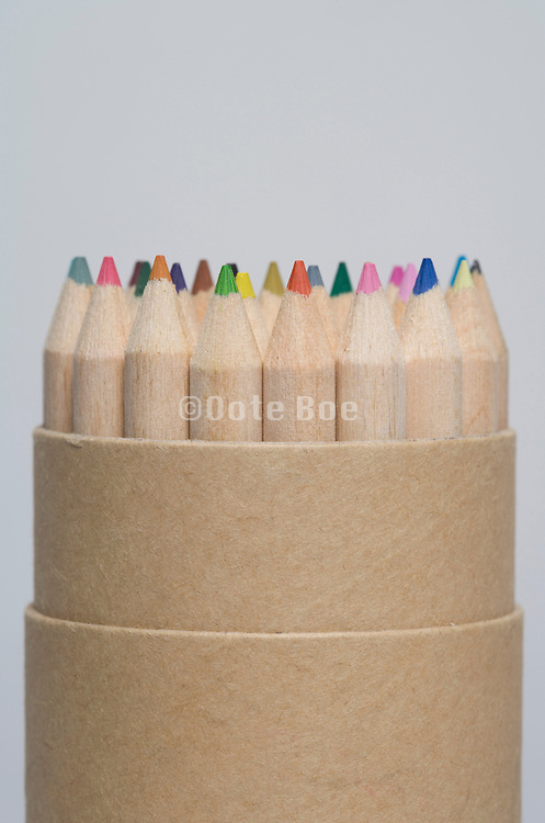 back of a group of colored pencils