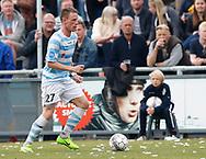 FODBOLD: Mathias Johannsen (FC Helsingør) under kampen i NordicBet Ligaen mellem FC Helsingør og Vendsyssel FF den 14. maj 2017 på Helsingør Stadion. Foto: Claus Birch