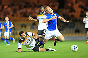 Remi Streete, Callum Camps during the EFL Sky Bet League 1 match between Port Vale and Rochdale at Vale Park, Burslem, England on 16 August 2016. Photo by Daniel Youngs.