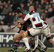 Twickenham, GREAT BRITAIN, during the Guinness Premiership game Harlequins [Quins] vs Saracens at the Stoop, Middx, 22/12/2007  [Mandatory Credit Peter Spurrier/Intersport Images]