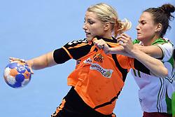 07-10-2015 NED: Kwalificatie EK 2016 Nederland - Bulgarije, Rotterdam<br /> De Nederlandse handbalsters zijn de kwalificatiereeks voor het EK in 2016 begonnen met een monsterzege op Bulgarije. In een volgepakt Topsportcentrum van Rotterdam won Nederland met 45-24 / Nycke Groot #8