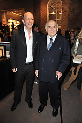 Left to right, SIMON SEBAG-MONTEFIORE and LORD WEIDENFELD at a party to celebrate the launch of Simon Sebag-Montefiore's new book - 'Jerusalem: The Biography' held at Asprey, 167 New Bond Street, London on 26th January 2011.