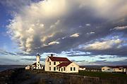 WA14529-00...WASHINGTON - Point Wilson Lighthouse in Fort Warden State Park near Port Townsend.