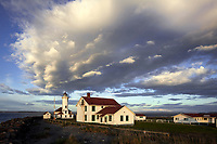 WA14529-00...WASHINGTON - Point Wilson Lighthouse in Fort Warden State Park near Port Townsend.