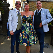 The Soho Society presents 45th Soho Village Fete with The Fabulous Lounge Swingers performs at St Anne's Gardens, Wardour Street on 30 June 2019, London, UK.