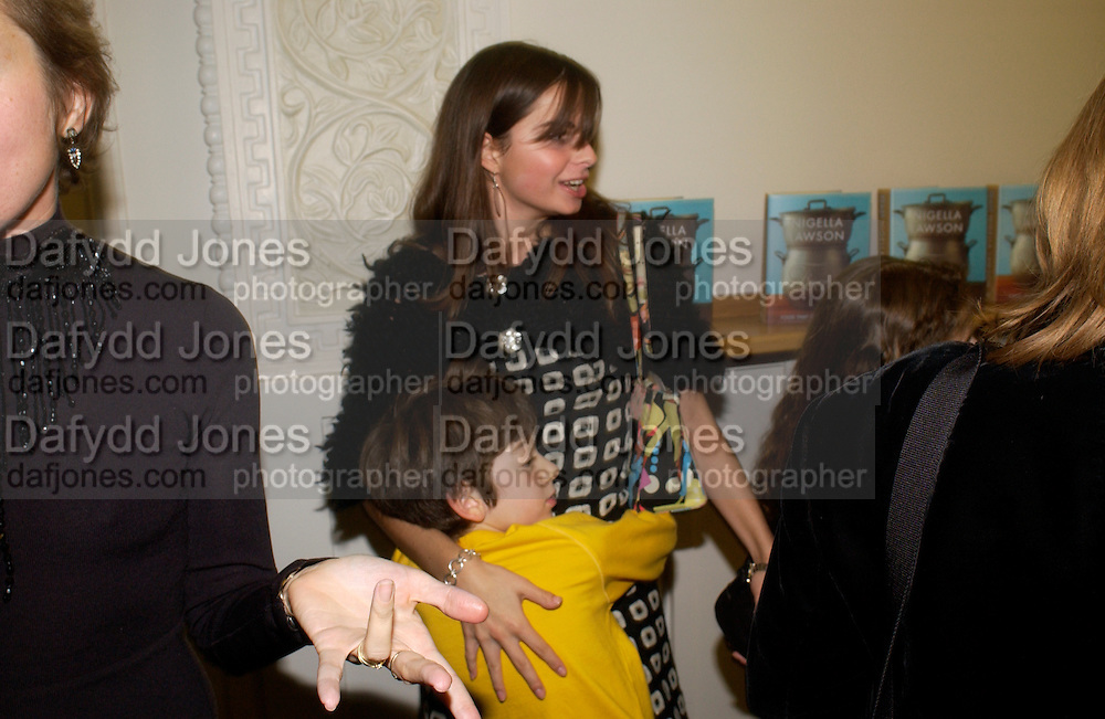 Bruno and Valentina Russo, 'Feast Food that celebrates Life' by Nigella Lawson- book launch. Cadogan Hall, Sloane Terace. 11 October 2004. ONE TIME USE ONLY - DO NOT ARCHIVE  © Copyright Photograph by Dafydd Jones 66 Stockwell Park Rd. London SW9 0DA Tel 020 7733 0108 www.dafjones.com