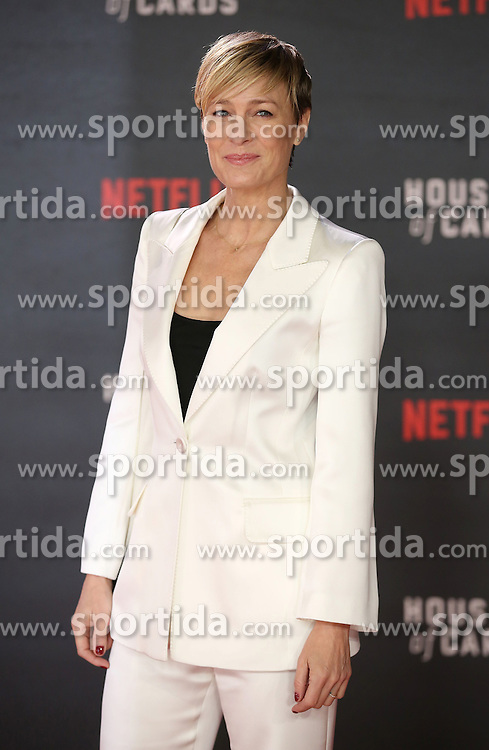 Robin Wright attends the World Premiere of 'House of Cards' Season 3 at The Empire Cinema on February 26, 2015 in London, England. EXPA Pictures &copy; 2015, PhotoCredit: EXPA/ Photoshot/ James Shaw<br /> <br /> *****ATTENTION - for AUT, SLO, CRO, SRB, BIH, MAZ only*****