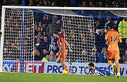 Ipswich Town striker Daryl Murphy celebrates after opening the scoring during the Sky Bet Championship match between Brighton and Hove Albion and Ipswich Town at the American Express Community Stadium, Brighton and Hove, England on 29 December 2015. Photo by Bennett Dean.