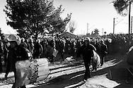 03 December 2016, Idomeni Greece - Greek Police at the Idomeni refugees camp.