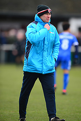 KEVIN WILKIN MANAGER BRACKLEY TOWN, Brackley Town v Wealdstone FA Trophy Semi Final First Leg, St James Park Saturday 17th March 2018. Score 1-0 (Alex Gudger)