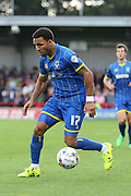 Andy Barcham of AFC Wimbledon during the Sky Bet League 2 match between AFC Wimbledon and Notts County at the Cherry Red Records Stadium, Kingston, England on 19 September 2015. Photo by Stuart Butcher.
