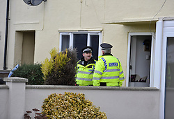 © Licensed to London News Pictures. Date 14 December 2013. Didcot. Missing teenager Jayden Parkinson. Police at the house of the 17 year old male arrested on suspicion of the murder of Jayden Parkinson. Today Police are searching a house in Abbot Road Didcot where it is believed the 17 year old lives. There is also a 22 year old male who has been charged with the murder and both remain in custody. Photo credit : MarkHemsworth/LNP