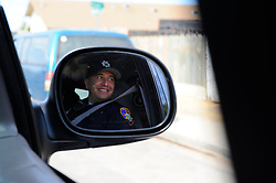 Salinas police officer Richard Lopez on patrol as part of the Community Alliance for Safety and Peace. CASP is an ambitious program that aims to steer youth away from gang violence and toward solutions offered by more than 30 local organizations offering alternatives.