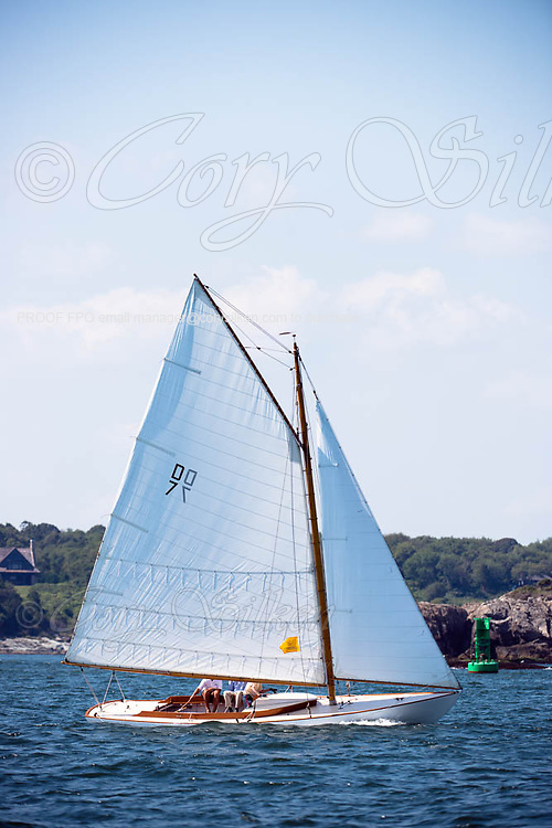 Bagatelle sailing in the Museum of Yachting Classic Yacht Regatta, day one.