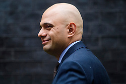 © Licensed to London News Pictures. 08/03/2017. London, UK. Secretary of State for Communities and Local Government SAJID JAVID arrives on Downing Street for a cabinet meeting before British chancellor Philip Hammond delivers his 2017 Budget to Parliament. Photo credit: Ben Cawthra/LNP
