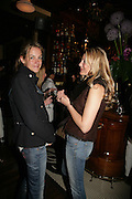 Lauren Burlingham and Charlotte Christodoulou, PJ's Annual Polo Party . Annual Pre-Polo party that celebrates the start of the 2007 Polo season.  PJ's Bar & Grill, 52 Fulham Road, London, SW3. 14 May 2007. <br /> -DO NOT ARCHIVE-© Copyright Photograph by Dafydd Jones. 248 Clapham Rd. London SW9 0PZ. Tel 0207 820 0771. www.dafjones.com.