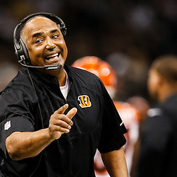 Nov 16, 2014; New Orleans, LA, USA; Cincinnati Bengals head coach Marvin Lewis against the New Orleans Saints during the second quarter of a game at the Mercedes-Benz Superdome. Mandatory Credit: Derick E. Hingle-USA TODAY Sports