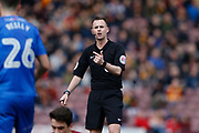 Referee Ross Joyce during the EFL Sky Bet League 1 match between Bradford City and Gillingham at the Northern Commercials Stadium, Bradford, England on 24 March 2018. Picture by Paul Thompson.