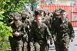 On the 2 mile march..Exercise Guards Warrior with the Scots Guards at their Catterick base..Pic ©2010 Michael Schofield. All Rights Reserved.