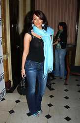 MARTINE MCCUTCHEON at a party to celebrate Pamela Anderson's new role as spokesperson and newest face of the MAC Aids Fund's Viva Glam V Campaign held at Home House, Portman Square, London on 21st April 2005.<br /><br />NON EXCLUSIVE - WORLD RIGHTS