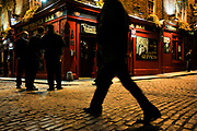 Temple Bar restaurants, pubs and art galleries fashionable district.