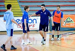 Luka Zvizej and Assistant coach Boris Denic at practice of Slovenian Handball Men National Team, on June 4, 2009, in Arena Kodeljevo, Ljubljana, Slovenia. (Photo by Vid Ponikvar / Sportida)