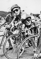Junior bike racers in Aspen, Colorado, 1987